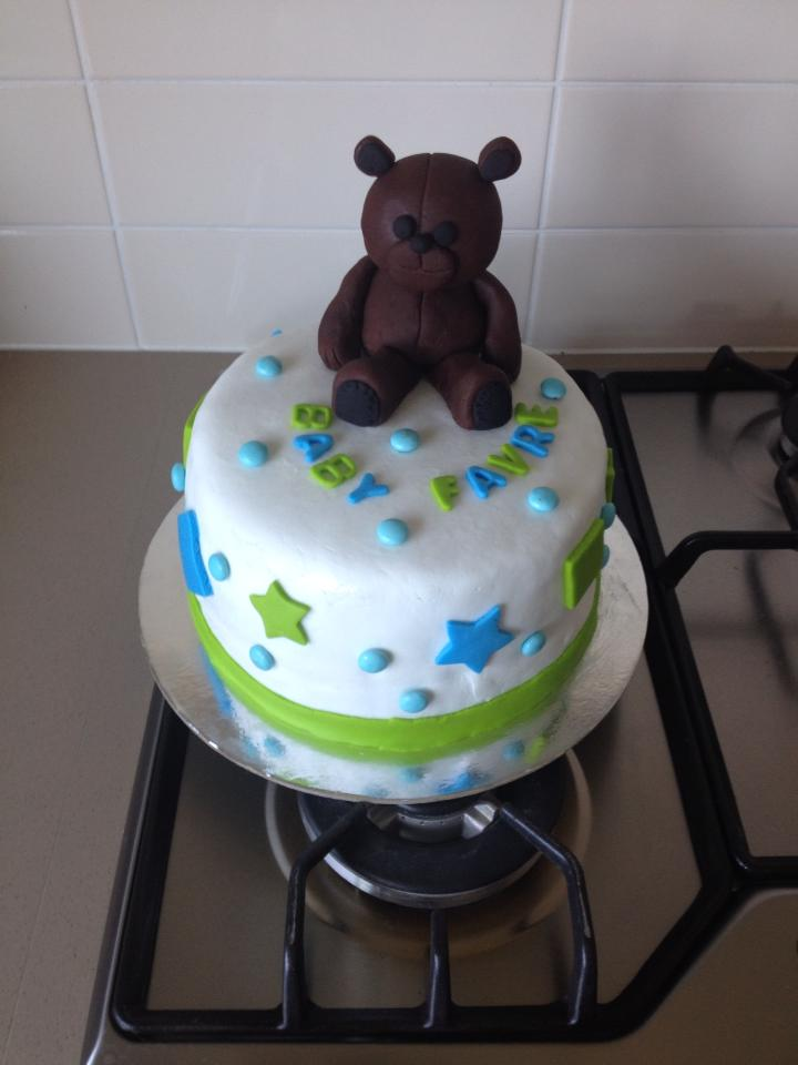 Amy's Teddy Bear Baby Shower Cake