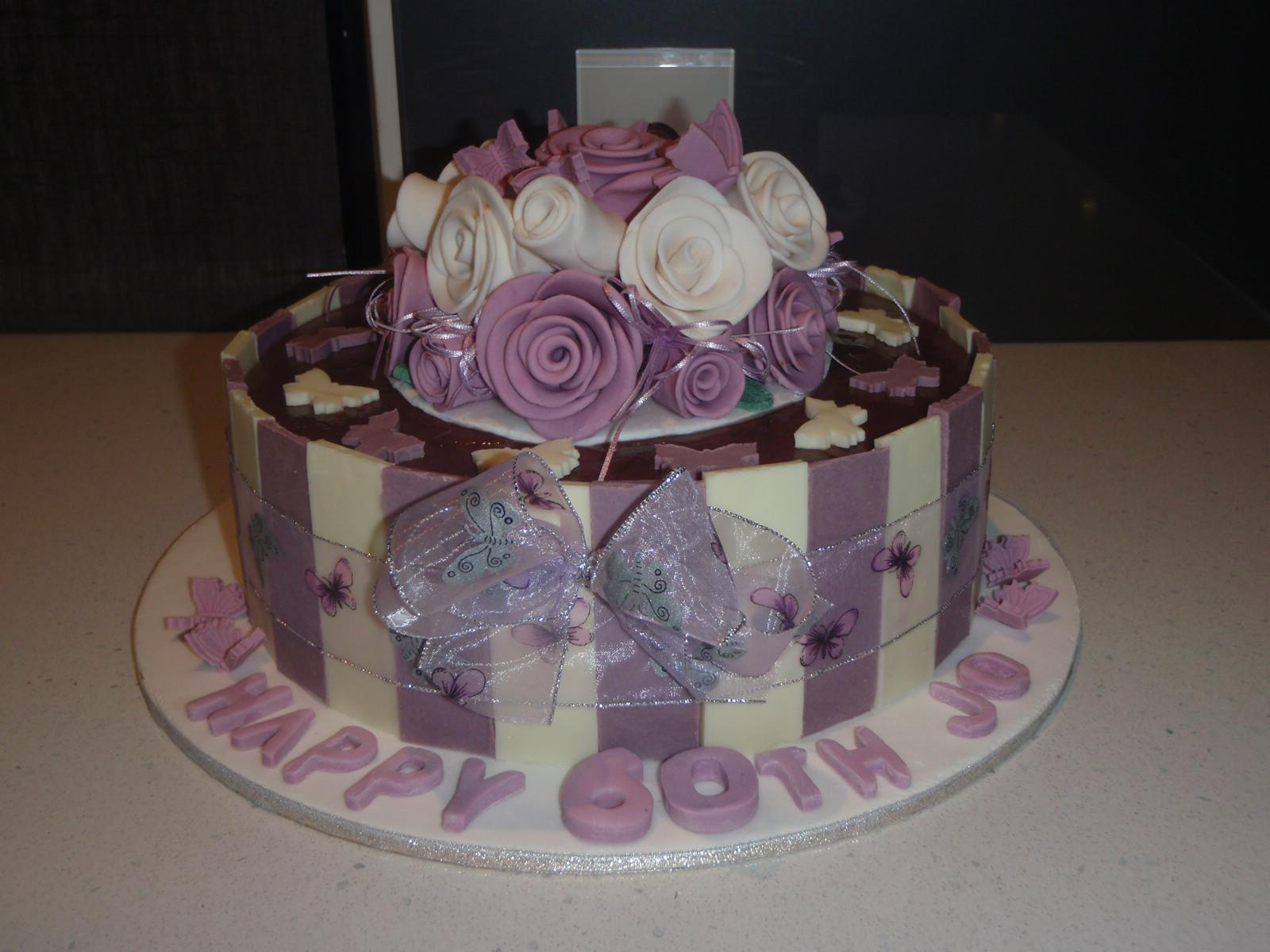Jenny's Purple 60th Birthday Cake