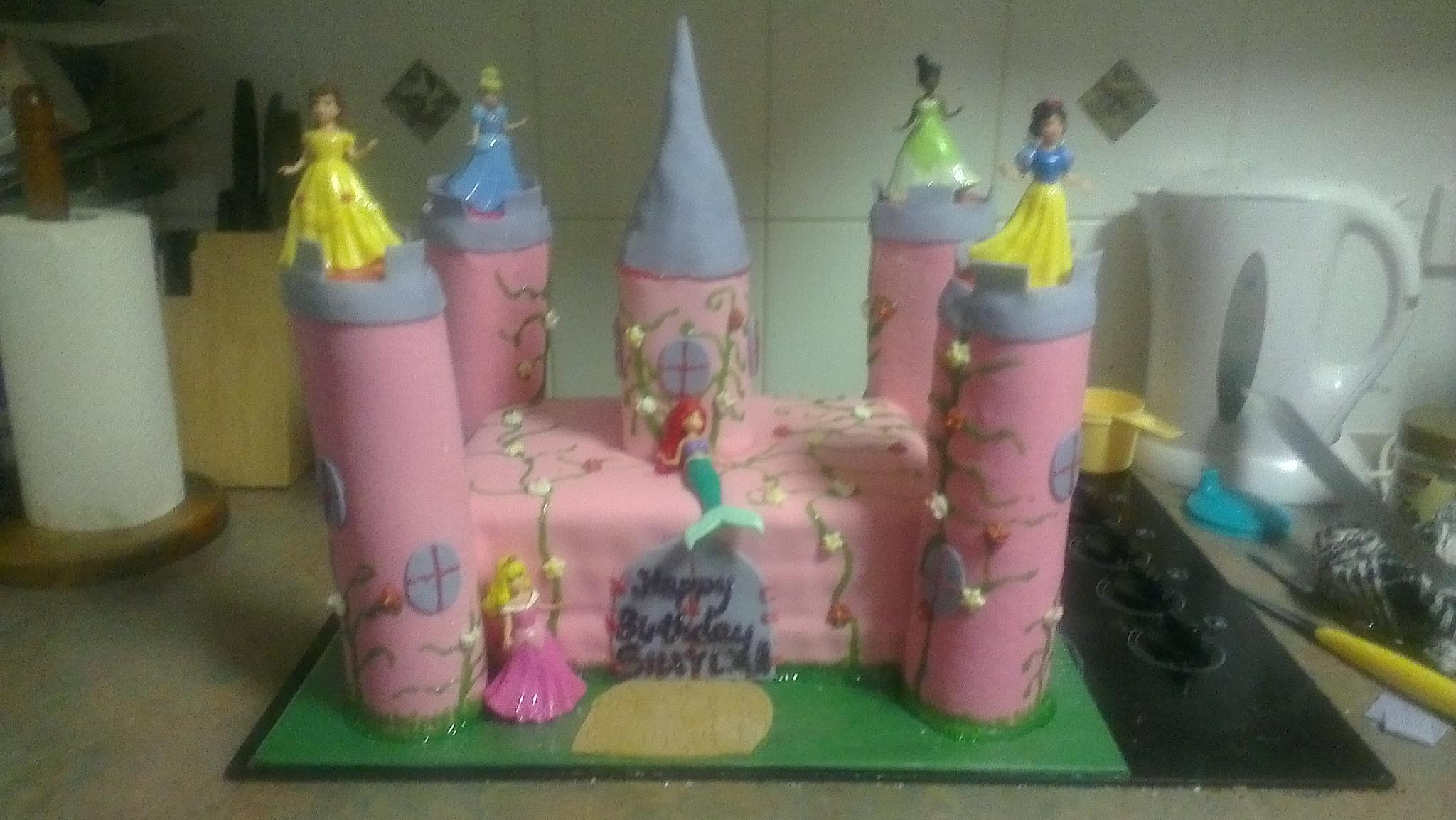 Jess's Disney Princess Castle Cake