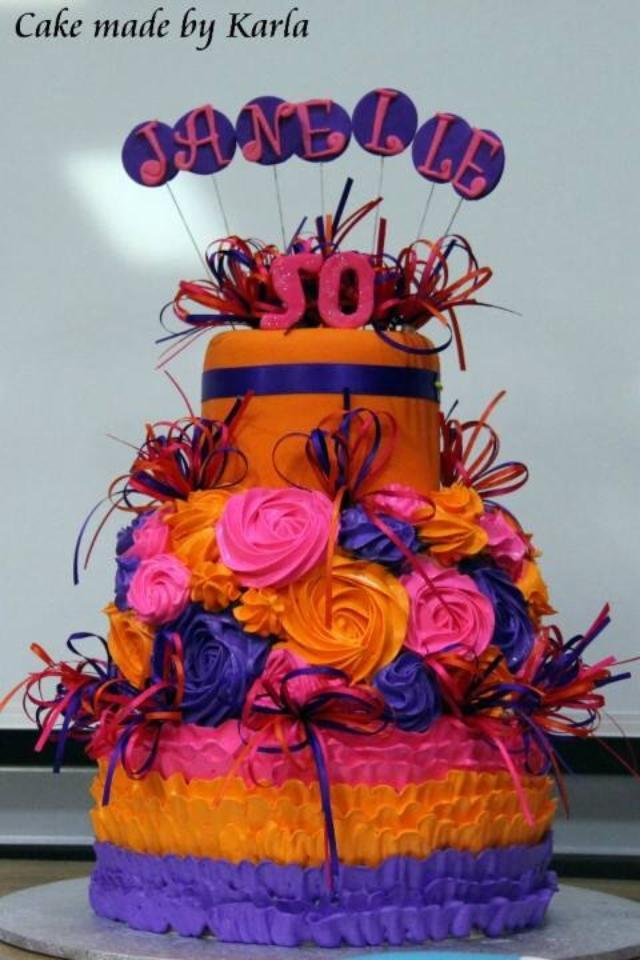 Karla's Bright Tiered Cake