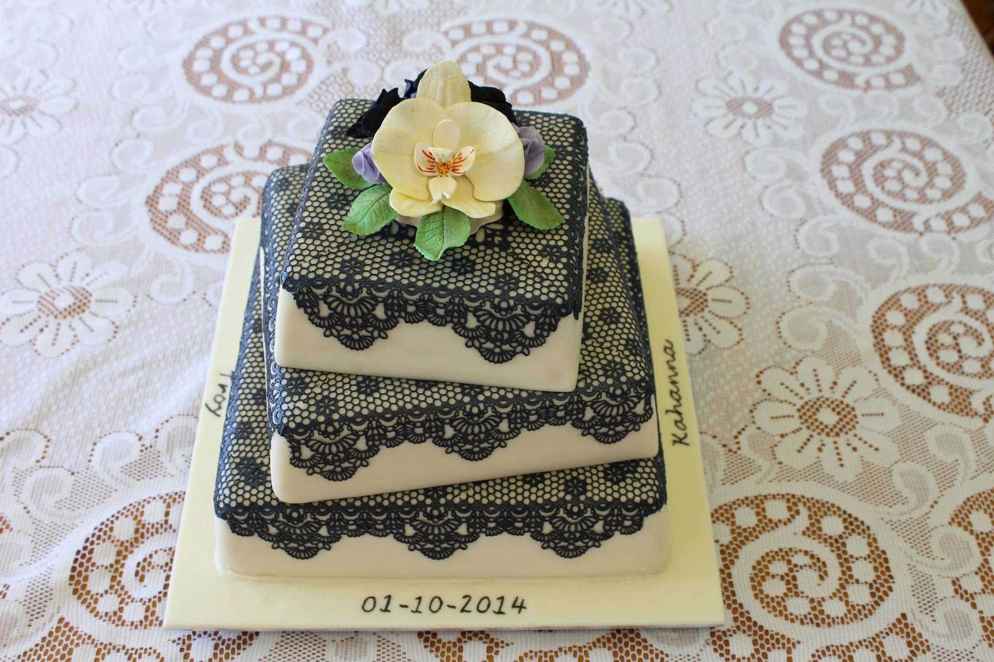 Malcom's Three Tier Lace Cake