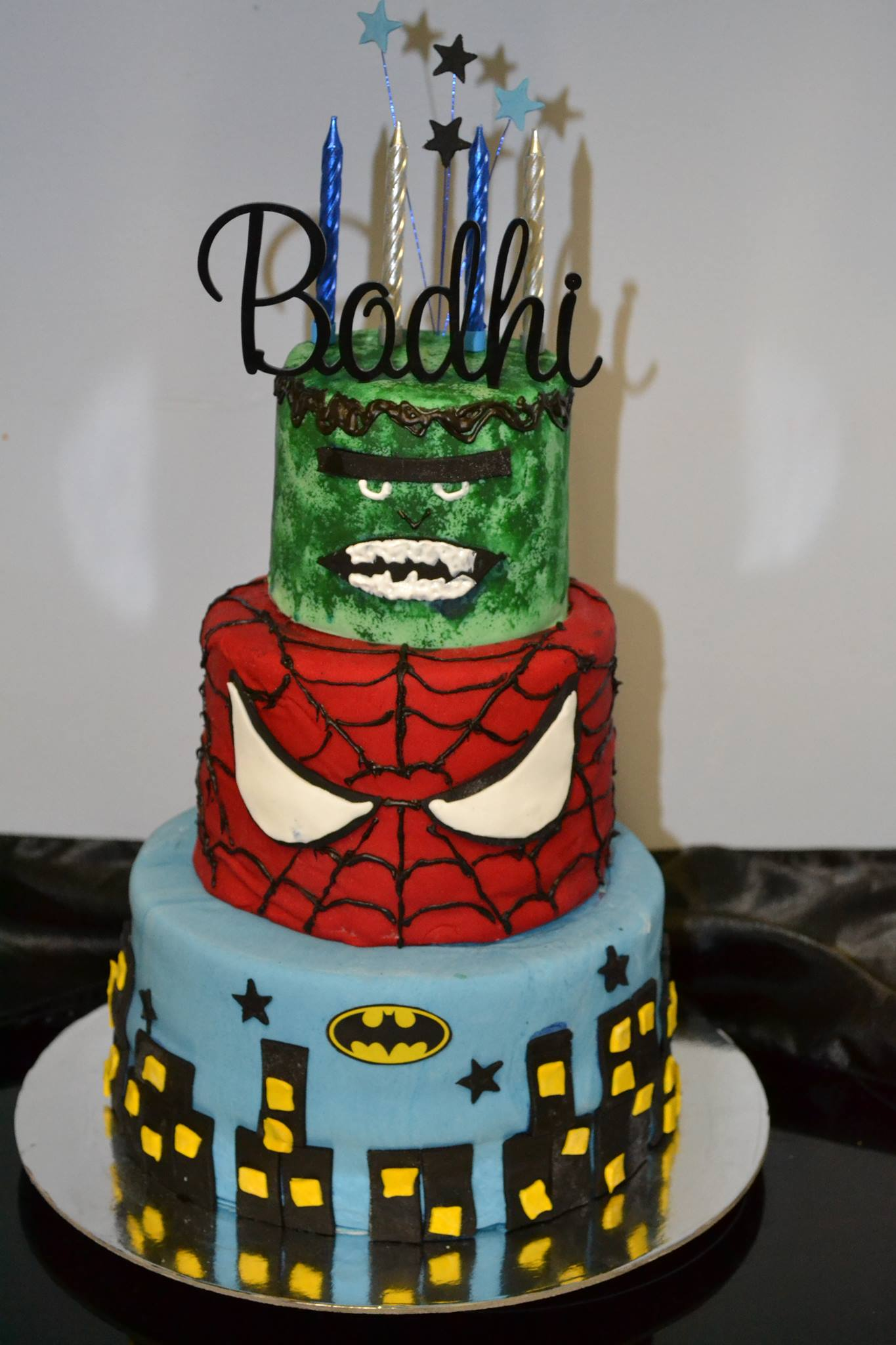 Netty's Superheroes Cake