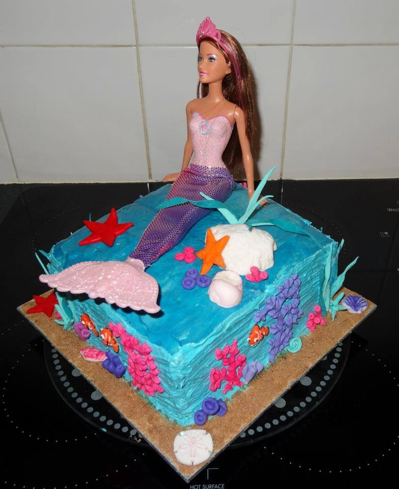 Tanya's Mermaid Barbie Cake