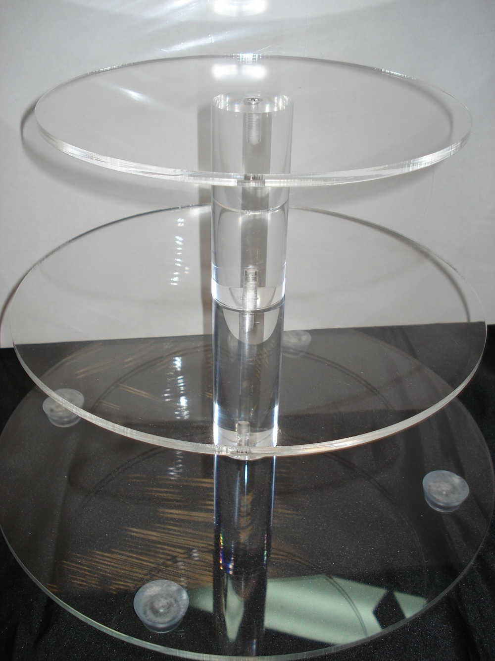 3 Tier Round Perspex Cupcake Stand