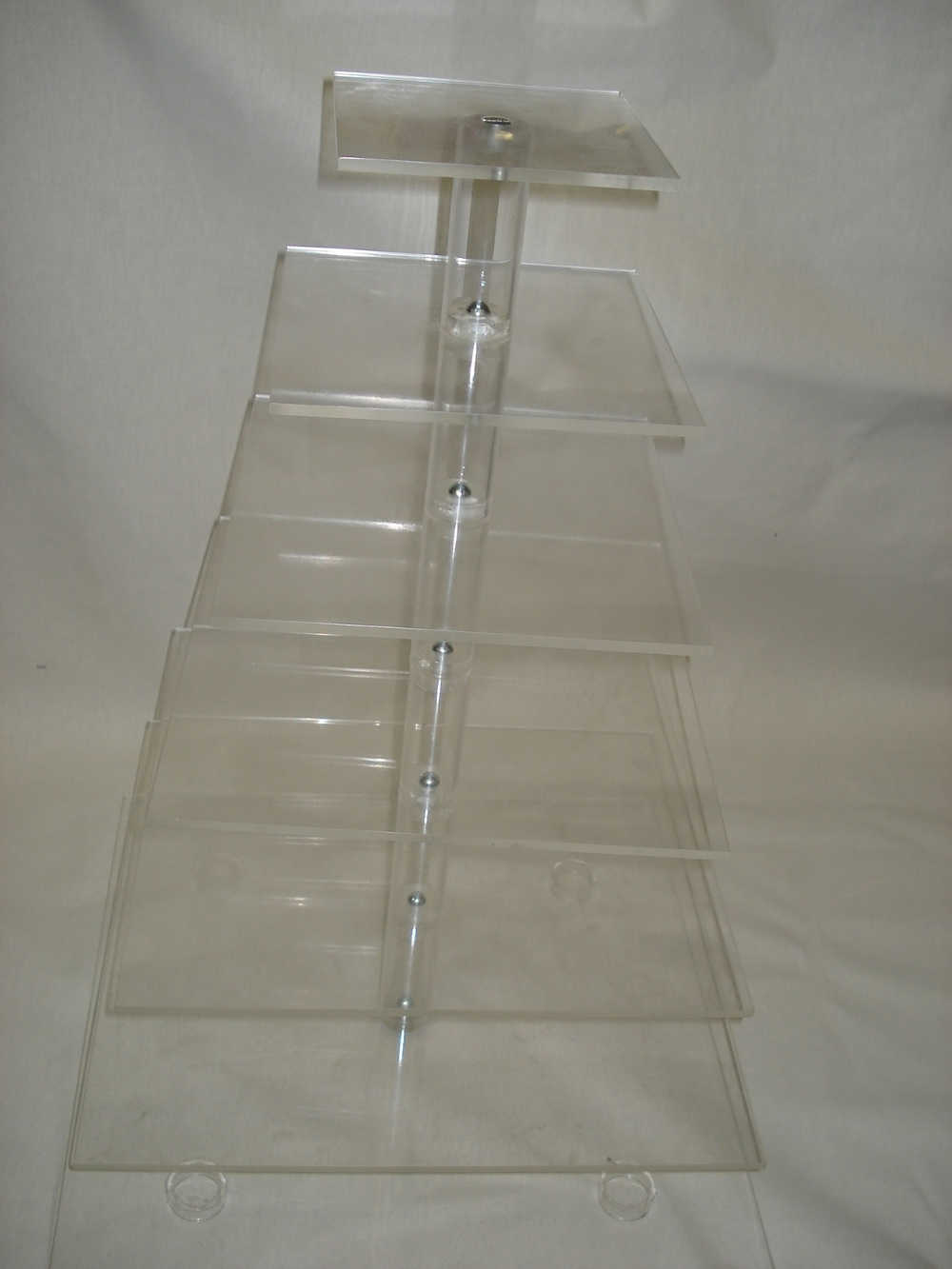 7 Tier Square Perspex Cupcake Stand